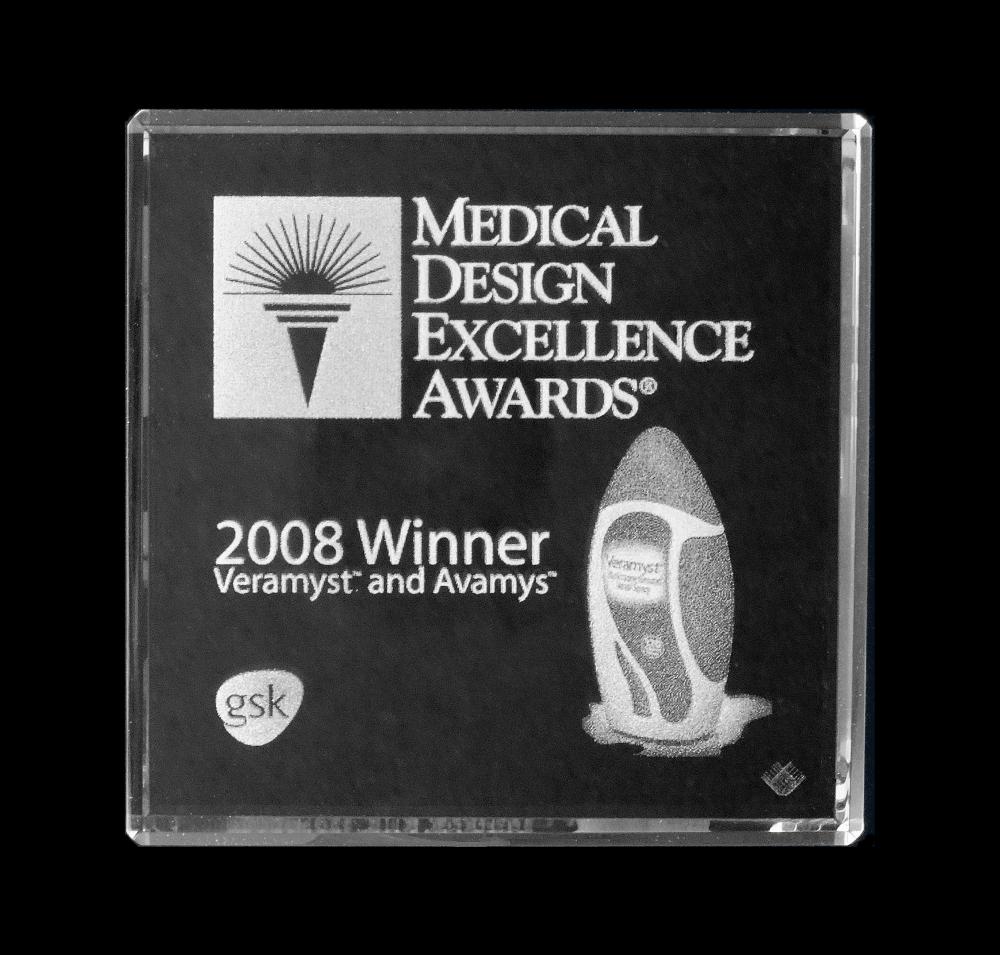 Veramyst / Avamys nasal inhaler Medical Design Excellence Award